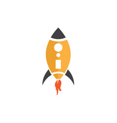 rocket on the white vector image vector image