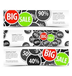 Set of big sale horizontal banners vector image