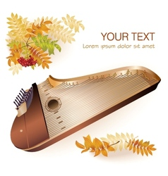 Traditional Finnish kantele vector image vector image