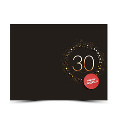 30 years anniversary decorated card template vector