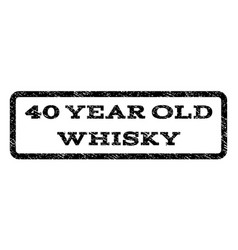 40 year old whisky watermark stamp vector