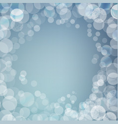 Abstract bokeh sparkles frame on blurred vector