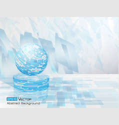 abstract circle background 3 vector image