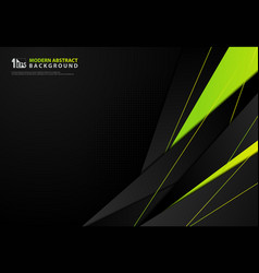 Abstract gradient green yellow design triangle vector