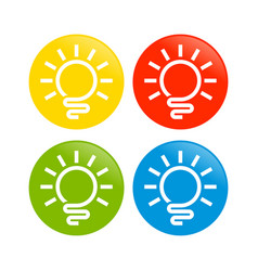 abstract light bulb circle icon vector image