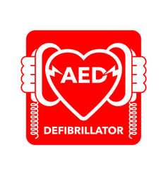 Aed icon - automated external defibrillator sign vector