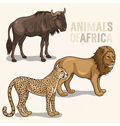 African Animals set2 vector image