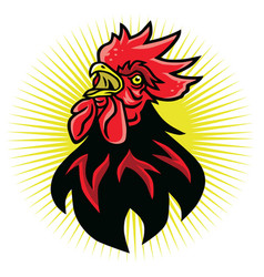 Angry rooster fighting sports mascot logo vector