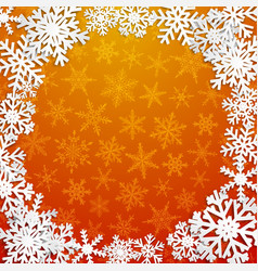 background with frame snowflakes vector image