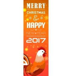 Banners with 2017 Chinese New Year Elements Bokeh vector