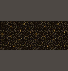 black and gold ornametal pattern abstract modern vector image