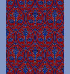blue and red floral pattern vector image