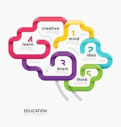 brain colorful line concept design vector image