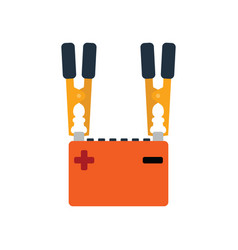 Car battery charge icon vector
