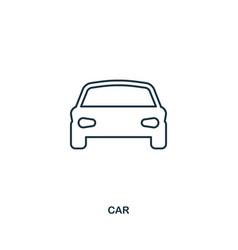 car icon outline style icon design ui vector image