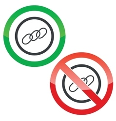 Chain permission signs vector