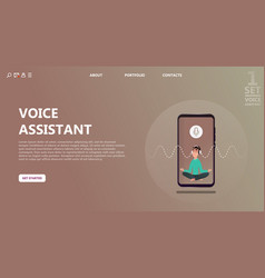 Character voice assistant listens to user command vector