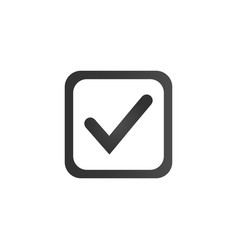 Checkbox icon flat symbol style simple web design vector