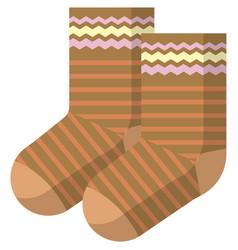 Children socks isolated on white background vector