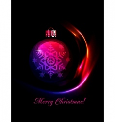 Christmas decoration stylized ball vector image vector image