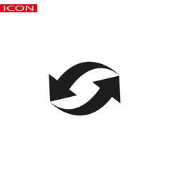 circle arrow icon related to refresh reload or vector image