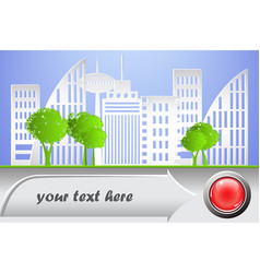 city banner paper style vector image