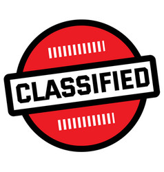 Classified stamp on white vector