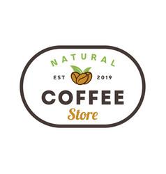 coffee natural store logo vintage coffee shop vector image