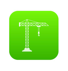 construction crane icon digital green vector image