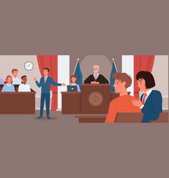 Court judgment law justice concept vector