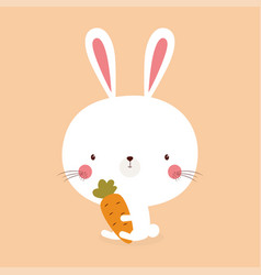 Cute bunny rabbit vector