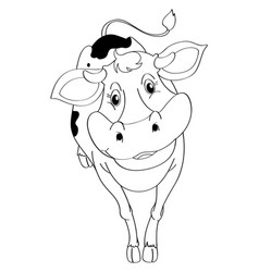 Drafting animal for cow vector