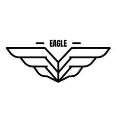 Eagle air borne logo outline style vector