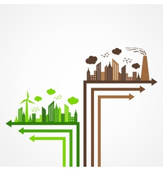 Ecology and pollution concept with brain vector