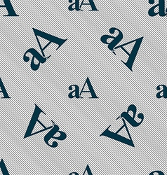 Enlarge font aA icon sign Seamless pattern with vector