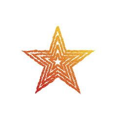 fire star symbol vector image