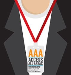 Flat Design Access All Area Staff Card vector image