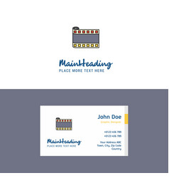 flat film roll logo and visiting card template vector image
