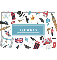 flat london colorful concept vector image