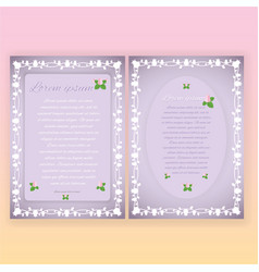 floral borders page template for web and print vector image