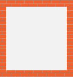 Frame orange bricks vector image