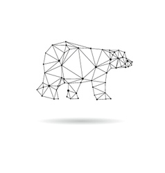 Geometric bear design silhouette vector