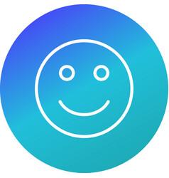 Happy emoji icon vector