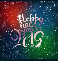 happy new 2019 year snowfall composirion vector image