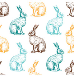 Hare pattern - easter background vector