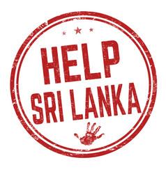 help sri lanka sign or stamp vector image
