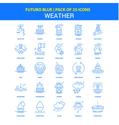 Icons - futuro blue 25 icon pack vector