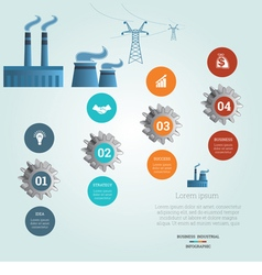 industrial infographic 4 vector image