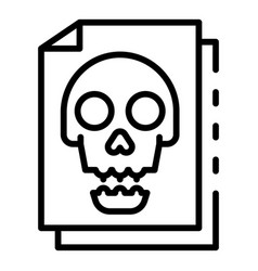 Infected files icon outline style vector