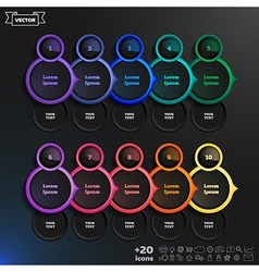 Infographic design list with colorful circles vector